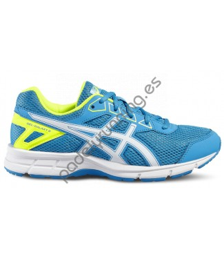 ZAPATILLAS DE RUNNING ASICS GEL GALAXY 9 GS AZUL..