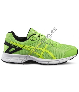 ZAPATILLAS DE RUNNING ASICS GEL GALAXY 9 GS VERDE..