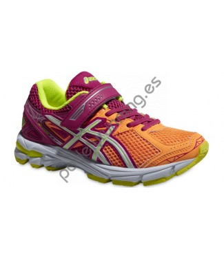 ZAPATILLAS DE RUNNING ASICS GT-1000 3 PS NARANJA/R..