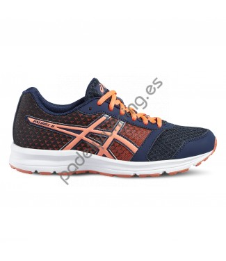 ZAPATILLAS DE RUNNING ASICS PATRIOT 8 AZUL/NARANJA..