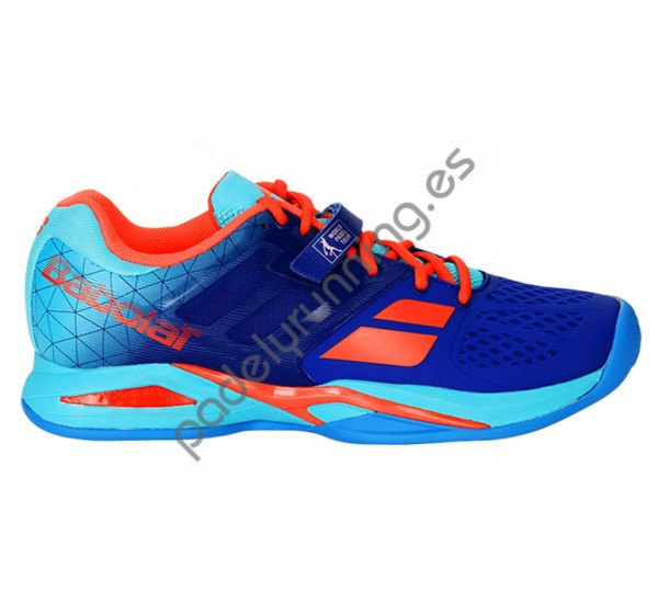 ZAPATILLAS DE PADEL BABOLAT PROPULSE WORLD PADEL TOUR AZUL-ROJO